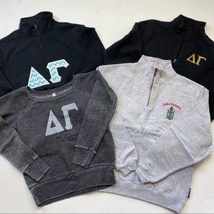 Delta Gamma Sorority Sweatshirt Bundle Size Small